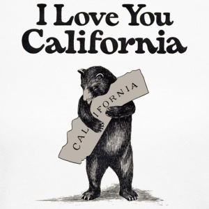 I Love You California Bear State Hug Long Sleeve Shirts - Women's Long Sleeve Jersey T-Shirt