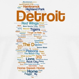 A Cute Detroit Word Map Style T-Shirts - Men's Premium T-Shirt