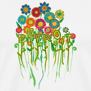 Pretty Detroit Flower Flowers  T-Shirts - Men's Premium T-Shirt
