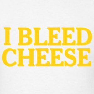 Funny Packer Cheesehead Bleed Cheese T-Shirts - Men's T-Shirt