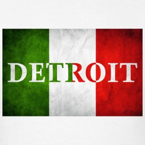 Detroit Italy Italian Flag Love T-Shirts - Men's T-Shirt
