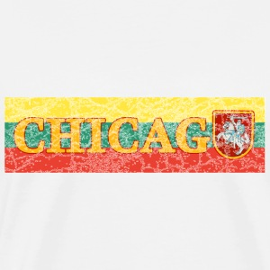 Chicago Lithuanian Lithuania Love Flag  T-Shirts - Men's Premium T-Shirt