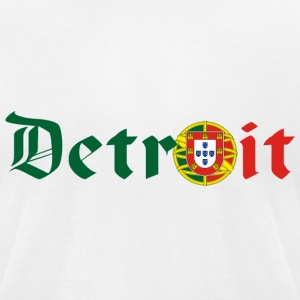 Detroit Portuguese Portugal Pride Flag T-Shirts - Men's T-Shirt by American Apparel