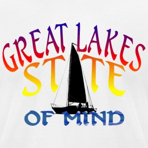 Great Lakes State of Mind T-Shirts - Men's T-Shirt by American Apparel