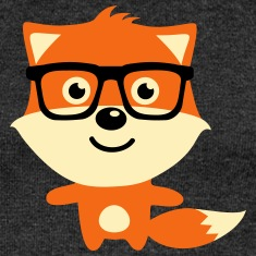 Cute & Funny Hipster Baby fox with nerd glasses Long Sleeve Shirts