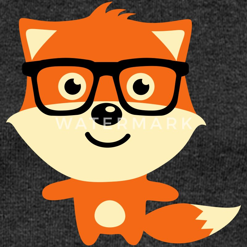 Cute & Funny Hipster Baby fox with nerd glasses Long Sleeve Shirts - Women's Wideneck Sweatshirt
