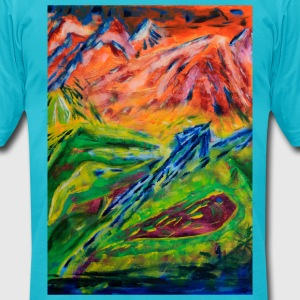 Realm of Fire Painting by Jason Gallant T-Shirts - Men's T-Shirt by American Apparel