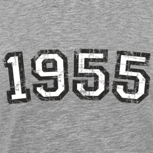 Year 1955 Vintage Birthday T-Shirt (Men Black&Whit - Men's Premium T-Shirt