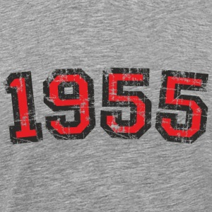 Year 1955 Vintage Birthday T-Shirt (Men Black&Red) - Men's Premium T-Shirt