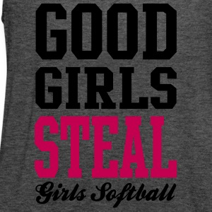 Softball Good Girls Steal Tanks - Women's Flowy Tank Top by Bella
