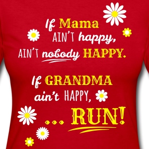 If Grandma Ain't Happy... - Women's Long Sleeve Jersey T-Shirt