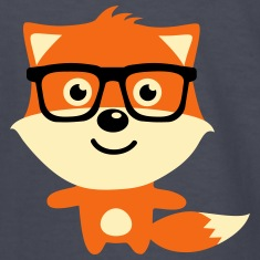 Cute & Funny Hipster Baby fox with nerd glasses Kids' Shirts