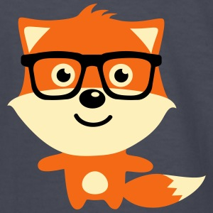 Cute & Funny Hipster Baby fox with nerd glasses Kids' Shirts - Kids' Long Sleeve T-Shirt