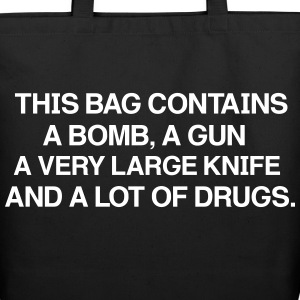 THIS BAG Contains a very large knife and a lot of  - Sac fourre-tout en coton naturel