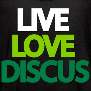 Live Love Discus Tanks - Women's Flowy Tank Top by Bella