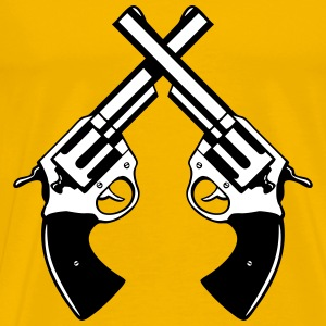 Cross arms pistols T-Shirts - Men's Premium T-Shirt
