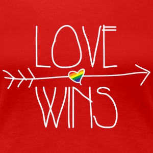 love wins Women's T-Shirts - Women's Premium T-Shirt