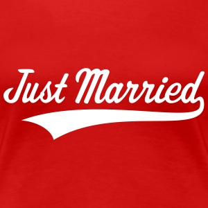Just Married (Marriage / Wedding) Women's T-Shirts - Women's Premium T-Shirt