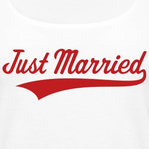 Just Married (Marriage / Wedding) Tanks - Women's Premium Tank Top