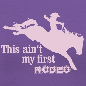First Rodeo Women's T-Shirts - Women's V-Neck T-Shirt