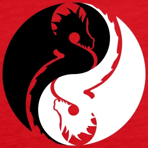 dragon yin yang Tanks - Women's Premium Tank Top