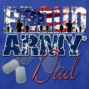 Proud Army Dad T-Shirts - Men's T-Shirt by American Apparel