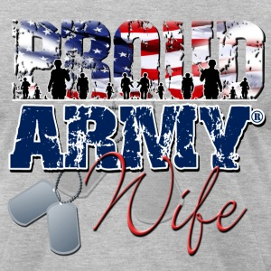 Proud Army Wife T-Shirts - Men's T-Shirt by American Apparel