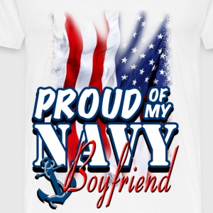 Proud Of My Navy Boyfriend T-Shirts - Men's Premium T-Shirt
