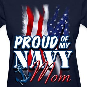 Proud Of My Navy Mom Women's T-Shirts - Women's T-Shirt