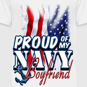 Proud Of My Navy Boyfriend Kids' Shirts - Kids' Premium T-Shirt