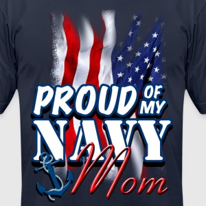 Proud Of My Navy Mom T-Shirts - Men's T-Shirt by American Apparel