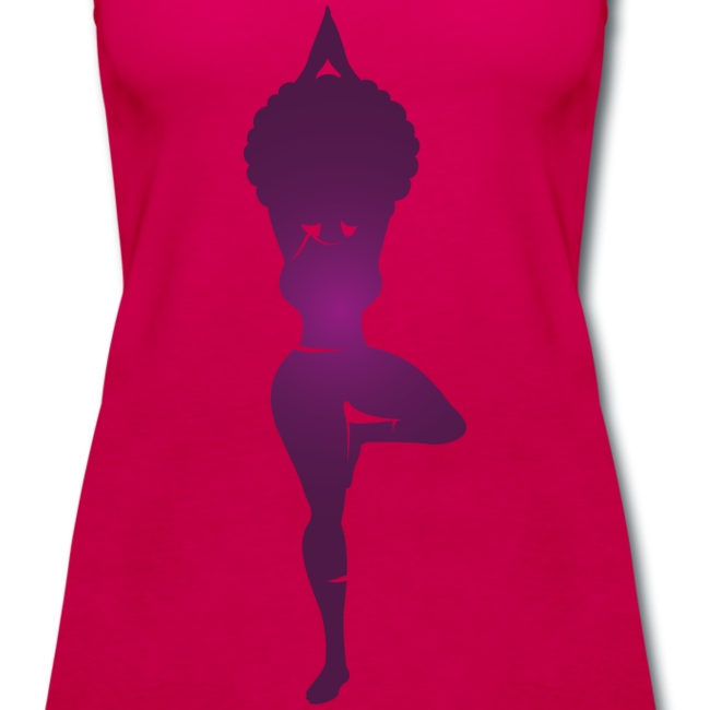 Purple Curvy Yogi tank