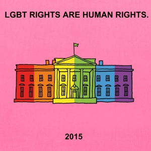 LGBT rights are human rights. The Rainbow House 20 - Tote Bag