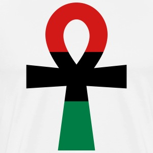 Red, Black & Green Ankh T-Shirts - Men's Premium T-Shirt