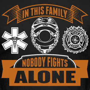 In This Family Nobody Fights Alone - Men's Long Sleeve T-Shirt by Next Level