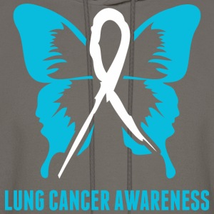 Lung Cancer Awareness - Men's Hoodie