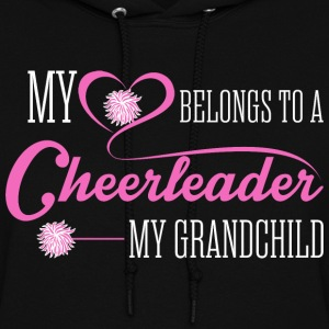 My Heart Belongs To A Cheerleader My Grandchild - Women's Hoodie