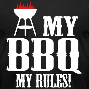 my bbq my rules T-shirts - T-shirt pour hommes American Apparel