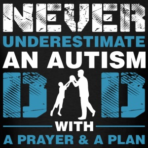 Never Underestimate An Autism Dad - Men's T-Shirt