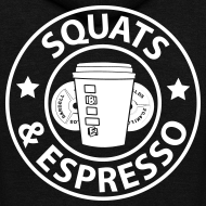 Design ~ Squats and Espresso Logo Womens Hoodie