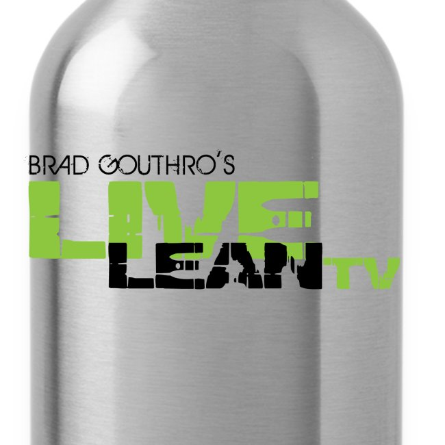 Live Lean Stainless Steel Water Bottle