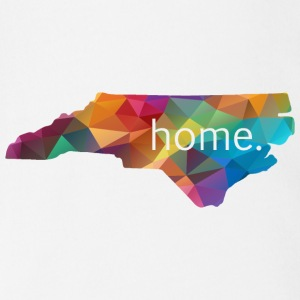 North Carolina Lowpoly HOME Baby   - Short Sleeve Baby Bodysuit
