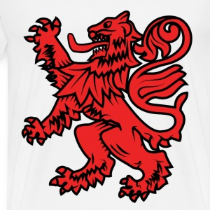 red lion dragon heraldic - Men's Premium T-Shirt