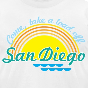 Come, take a load off - San Diego T-Shirts - Men's T-Shirt by American Apparel