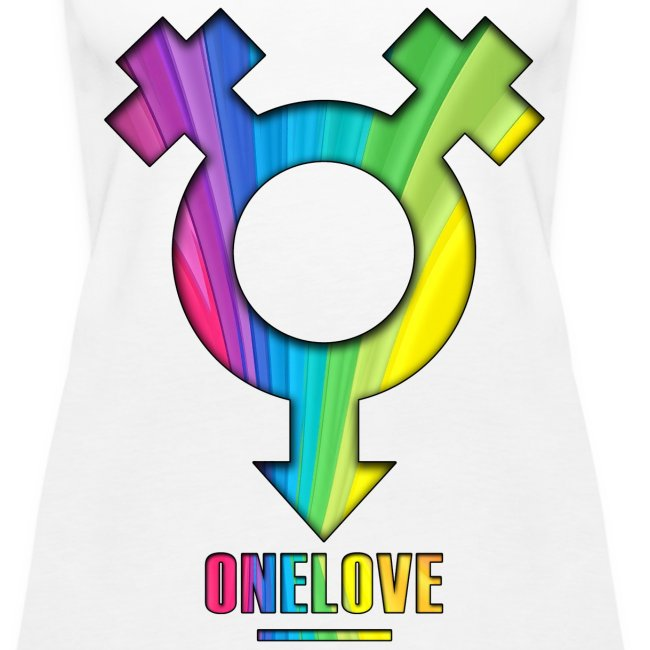 ONELOVE RAINBOW FEMALE - front print - s/3xl - multi colors
