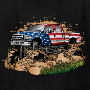 Mega Mud Truck USA Kids' Shirts - Kids' T-Shirt