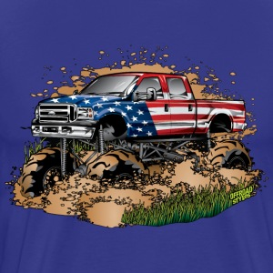Mega Mud Truck USA T-Shirts - Men's Premium T-Shirt