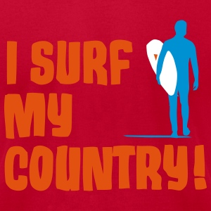 I Surf My Country! T-Shirts - Men's T-Shirt by American Apparel