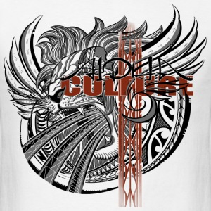Alpha Lion and Culture Cross - Men's T-Shirt