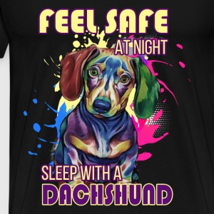 Dachshund T-shirt - Feel safe with dachshund - Men's Premium T-Shirt